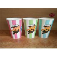 24 Ounce Disposable Cold Paper Cups With Transparent Lid / Flexo Print Manufactures