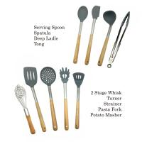 Non Fading Spatula Kitchen Tools , Non - Stick Silicone Spatula Spoon Set Manufactures