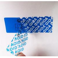 China Custom Blue Tamper Evident Security Labels Warranty Void If Removed on sale