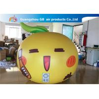 Yellow Ball Apple Shape Inflated Helium Balloons Smile Airtight For Advertisement for sale