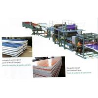 Insulated EPS Sandwich Panel Production Line with Decoiler / Laminating Device Manufactures
