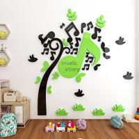 China supplier Acrylic Mirror Wall Stickers /Adhesive Decor Wall music tree wall sticker mirror Manufactures
