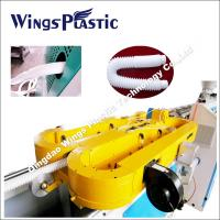 PP Materials Basin Drain Pipe Extrusion Line / Expansible Drainage Corrugated Pipe Making Machine Manufactures