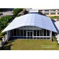 Arch Large White Tent With Glass Wallss And Doors For Elegant multiply Outdoor Events Manufactures