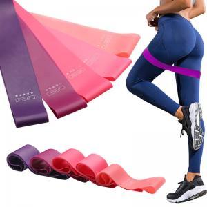 China Training Fitness Gym Exercise Rubber Band , Unisex Pilates Resistance Bands on sale