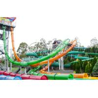China Big Spiral Fiberglass Water Slides for Kids and Adults Aqua park Sport Games 0.85m Dia wholesale