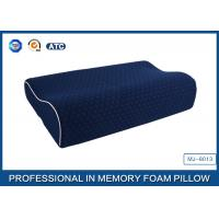 Buy cheap China Supplier Blue Memory Foam Support Pillow Contour Wave Shaped from wholesalers