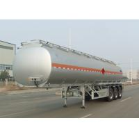 Tri Axle Carbon Steel Tanker Trailer , Oil And Diesel Fuel Tank Trailer 40000L Manufactures