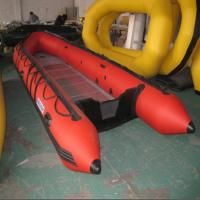 China 330-580cm Glass Fiber Rib Inflatable Rubber Motor Boat 2-15 person with Outboard Engine on sale