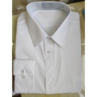 China 45X45 Yarn Count Mens Casual White Long Sleeve Shirt Personalized Custom Design on sale