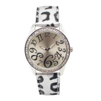 Rubber Rainproof Boy Leather Strap Watches White Leather Watch Strap Manufactures