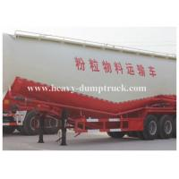 50 Ton Bulk Cement Truck V  type Tank / dry bulk trailer 12 Tires with warranty Manufactures