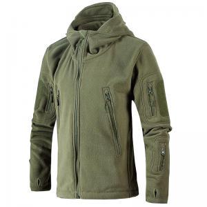 China Outdoor Autumn Mens Mountain Jacket , Multi Pocket Fleece Jacket With Hood on sale