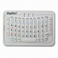 China Mini Bluetooth Keyboard for iPad, Built-in Rechargeable Lithium-ion Battery on sale