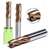 HRC55 TiSIN Coating Tungsten Carbide End Mill Cutting Tool Square / Flat For Wood Manufactures