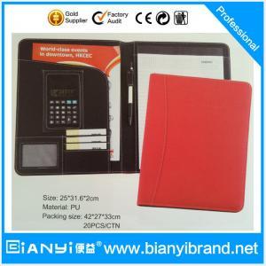 China Logo printing paper file folder supplier PU cardboard file folder on sale