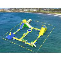 Giant Inflatable Floating Water Games /  Inflatable Aqua Park With Trampoline Manufactures