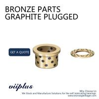 Phosphor Bronze Graphite Plugged Bushings Cast Bronze Bearings Material Manufactures
