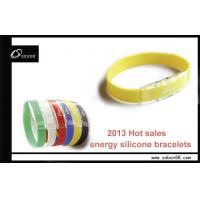 China Baseball bracelet power balance silicone band to improve concentration, prevent ageing on sale