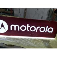 Motorola Rectangular Shaped Sign Double Sides For Cellpone Store Custom Size Manufactures