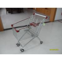 Buy cheap Popular 125L Grocery Store Shopping Cart With Zinc Plated Clear Powder Coating from wholesalers