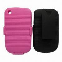 2-in-1 Hard Snap-on Covers for RIM's BlackBerry Bold 8520/9300, with Kickstand and Belt Clip Manufactures