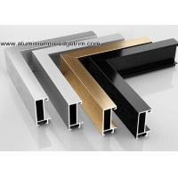 Wide Edge Metal Aluminium Picture Frame Mouldings For Gallery Manufactures