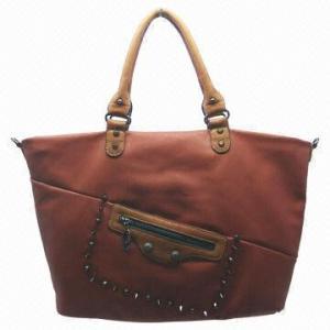 China Stylish Women Genuine Leather Autumn Winter Handbag With Detachable Shoulder Strap on sale