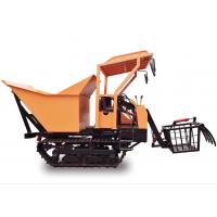 Hydrostatic Transmission Garden / Mining Mini Crawler Dumper Tracked Power Barrow Customized Color compact tractor for sale
