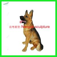 China customize size animal fiberglass statue large dog model as decoration statue in garden /square / shop/ mall wholesale
