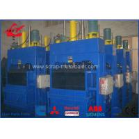 China PLC Control Plastic Bottle Baler Waste Recycling Equipment 6 - 8 Bales Per Hour Y82-25 on sale
