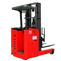 China MIMA 2500kg 5500mm Electric Reach Truck Triplex Full Free Mast with 48V Battery on sale