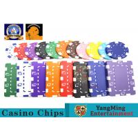 Oversized Rectangular Printable Plastic Ept Poker Chips 11.5g - 32g 3.3mm Thickness Manufactures