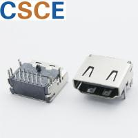 China Three Rows PIN HDMI Female Connector , DIP 19 Pin HDMI Connector Bronze Material Contact on sale