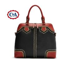 China Selling C&A lady's seamed PU shoulder handbags designer bags USA brand discount tote bag on sale