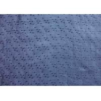 Professional Blue Ramie Material Jacquard Upholstery Fabric Manufactures