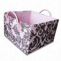 Paper Woven Toy Storage Box with Fashion Design Printing, OEM Orders are Available Manufactures