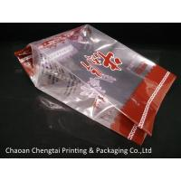 Side Gusseted Reclosable Bags / Fresh Meat Packaging Pouch High barrier QS Approval Manufactures