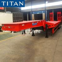 3/4 Axles 45-60 Tons Low-Bed Heavy Duty Transport Equipment Truck Semi Trailer Manufactures