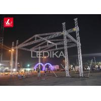 Silver Color Spigot Aluminum Roof System Stage Lighting Truss For Decoration Manufactures