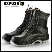 Men's safety boots 5inch anti-slip work boots men's steel toe safety shoes black Manufactures