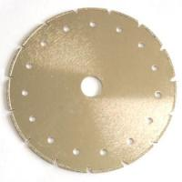 Circular Shape Synthetic Diamond Cutting Blade V Slot For Limestone / Soft Stone Manufactures