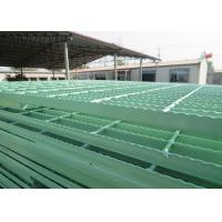 PVC Coated Catwalk Grating Walkway , Galvanized Serrated Metal Grate Platform Manufactures