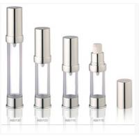 Quality Silver Acrylic Airless Bottles Plastic Cosmetic Lotion Containers for sale