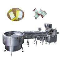 China Turntable Type Automatic Packaging Line Feedin For Compressed Facial Mask on sale