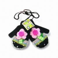Children's Gloves, Made of 100% Cotton, Customized Designs and Colors are Welcome Manufactures