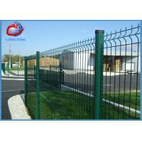 Green Vinyl Coated Welded Wire Fencing Panels , Welded Wire Dog Fence Multi Purpose Manufactures