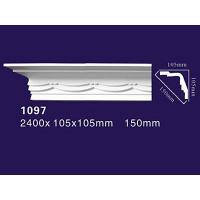 Factory Price PU Cornice/ PU Carved Crown Molding 1097 Manufactures