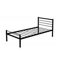 China Easy Assembly 100% Metal / Stainless Steel Single Bed Black, on sale