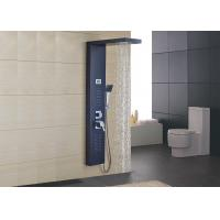 Black Stainless Steel Wall Mount Shower Panel Hydromassage Design ROVATE Manufactures